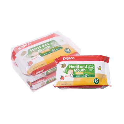 Pigeon Hand & Mouth Wipes 60's 2-in-1