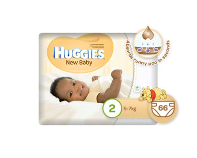 Huggies Newbaby Size 2 Mini 66's