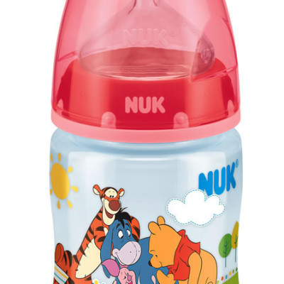 Nuk First Choice Disney Bottle Silicone Teat Size 1 150ml - Red