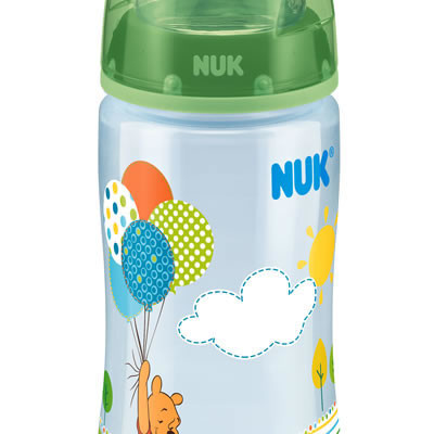 Nuk First Choice Disney Bottle Silicone Teat Size 1 300ml - Green