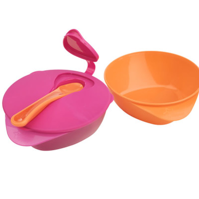 Tommee Tippee Explora  FEEDING BOWL WITH LID -Pink and Orange