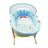 "Grobaby Moses Basket ""Blue"""
