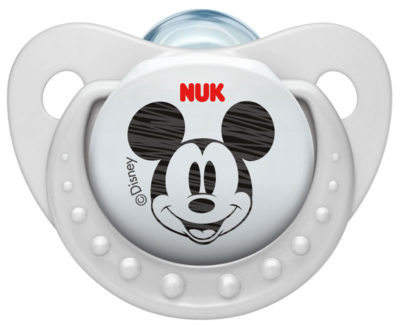 Nuk Silicone Disney Mickey Soother Size 2 - White