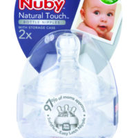 Nuby Natural Touch Silicone Nipples Fast Flow 2 Pack