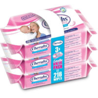 Cherubs Sensitive Wipes 72's Triple Pack