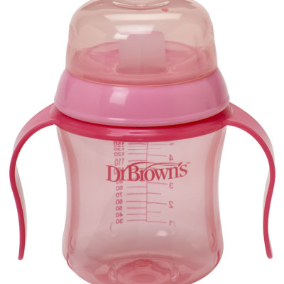 "Dr Browns Soft Spout Training Cup 180ml ""Pink"""