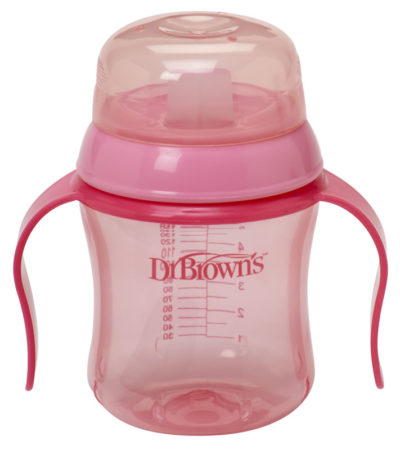 """Dr Browns Soft Spout Training Cup 180ml """"Pink"""""""