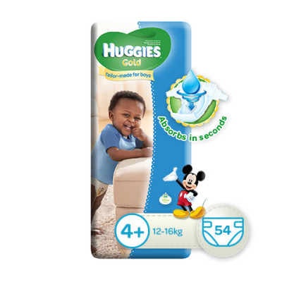 Huggies Gold Boy Size 4+ 54's