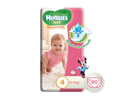 Huggies Gold Girl Size 4 60's