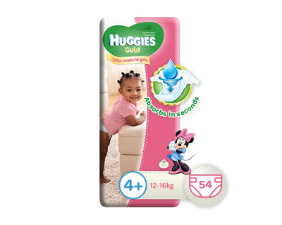 Huggies Gold Girl Size 4+ 54's