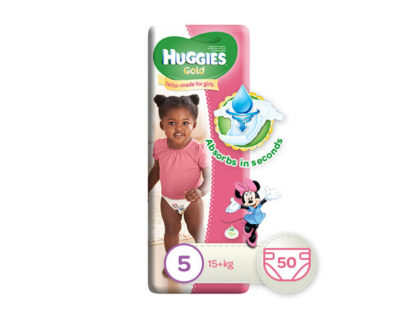 Huggies Gold Girl Size 5 50's