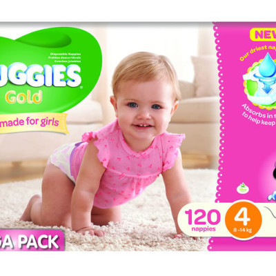 Huggies Megabox Girl Size 4 120's & Wipes