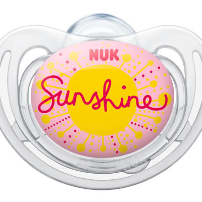 Nuk Silicone Freestyle Soother - Size 2 - Sunshine