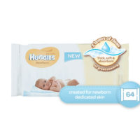 Huggies Pure Wipes Newborn 64's