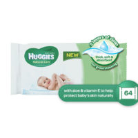 Huggies Natural Care Wipes 64's