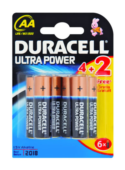 Duracell Ultra Power AA 4's+2's