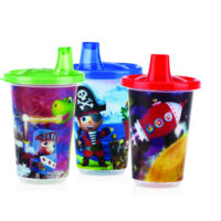 Nuby Character Cups 3 Pack 300ml