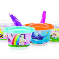 Nuby Character Bowls & Lids 4 Pack