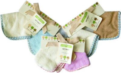 Snuggletime Wash Cloths 'Naturals' 2 Pack