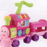 "Winfun Learning Train Ride-On Walker ""Pink"""