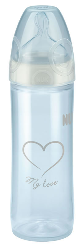 NUK New Classic Bottle with Silicone Teat - 250ml - Sz2 - Neutral