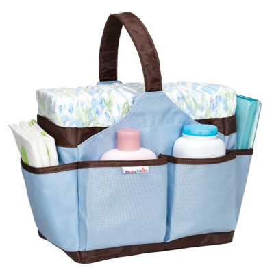 "Snuggletime Portable Diaper Bag ""Blue"""