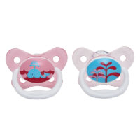 """Dr Browns PreVent Pacifier 0-6m """"Pink"""" 2 Pack"""
