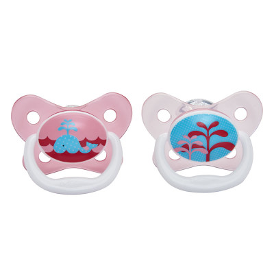 "Dr Browns PreVent Pacifier 0-6m ""Pink"" 2 Pack"