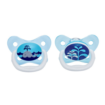 "Dr Browns PreVent Pacifier 0-6m ""Blue"" 2 Pack"