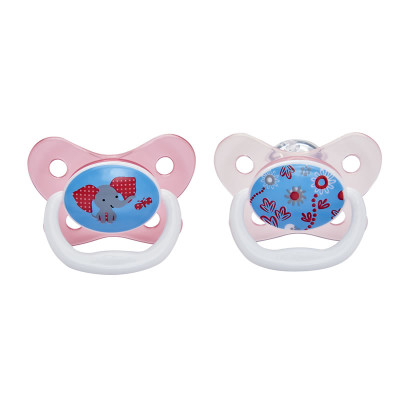 "Dr Browns PreVent Pacifier 6-12m ""Pink"" 2 Pack"
