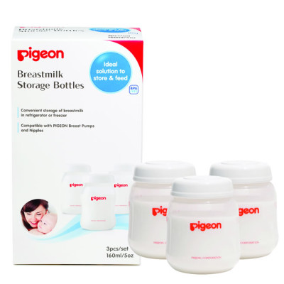 Pigeon Breastmilk Storage Bottle 160ml 3's