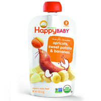 Happy Baby Stage 2 Apricot Sweet Potatoes & Bananas 113g