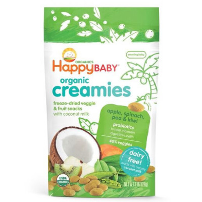 Happy Baby Apple Spinach Pea & Kiwi Creamies 28g