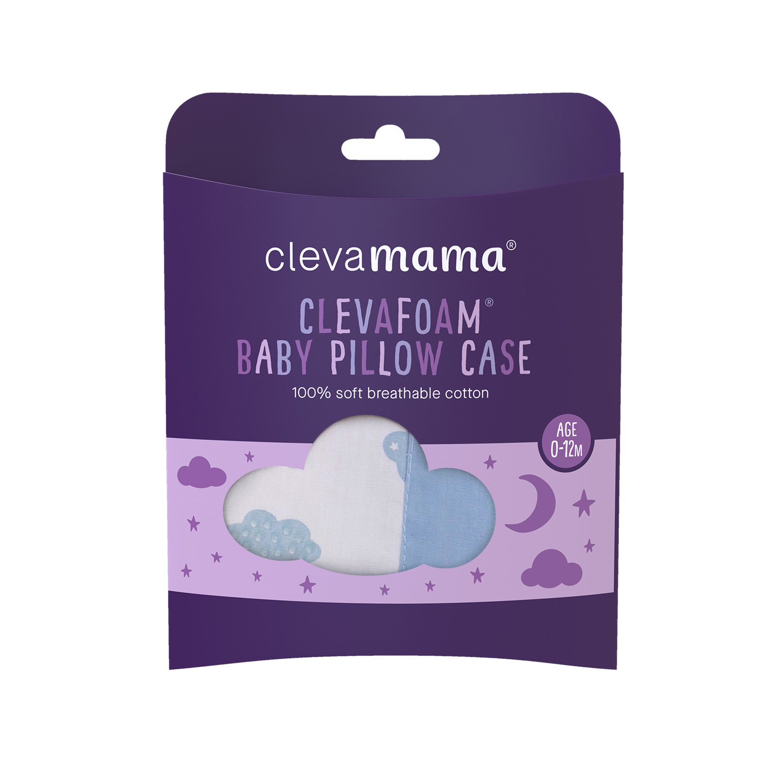 Clevamama Baby Pillow Case Blue Baby City