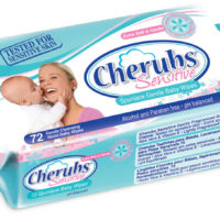 Cherubs Sensitive Fragranced Wipes 72's