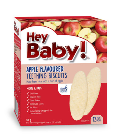Hey Baby Apple Teething Biscuit