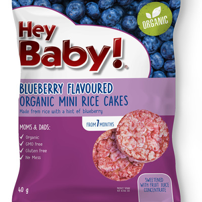 Hey Baby Blueberry Mini Rice Cakes