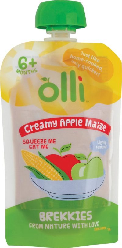 Olli Creamy Apple Maize Pouch 100g