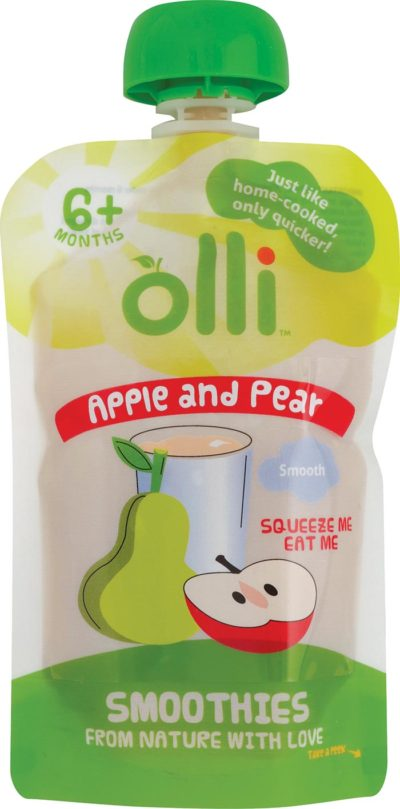Olli Apple & Pear Pouch 100g