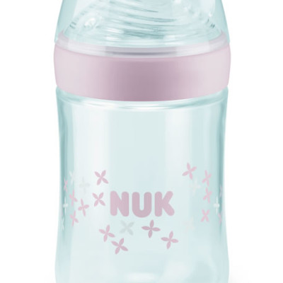 NUK Nature Sense Bottle with Silicone Teat 260ml Sz2 Pink